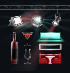 Night club set vector