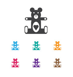 Of infant symbol on teddy icon vector