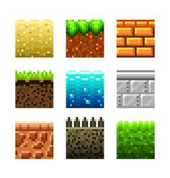 pixels textures for games vector image vector image