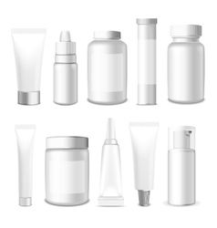 Realistic Tubes and Jar vector image vector image
