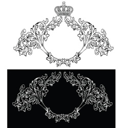 Royal frames vector