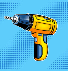 Screw gun comic book style vector
