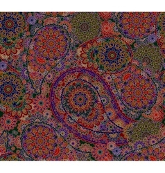 Seamless Oriental Pattern Colorful Paisley vector image vector image