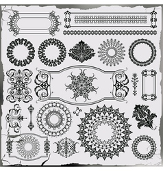 set of beautiful ornamental decoration vector image vector image