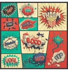 Set of comics icons vector
