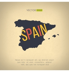 spain map in vintage design Spanish border vector image