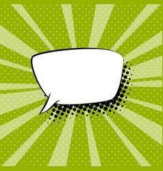 speech bubble on green retro background vector image
