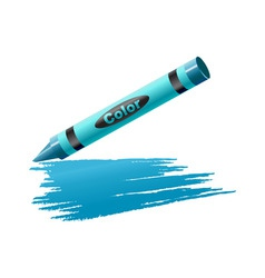 Vector illustration of crayon drawing on the sheet vector