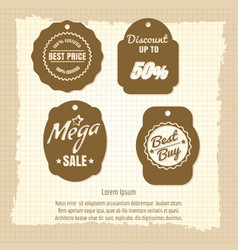 vintage sale labels or banners design vector image