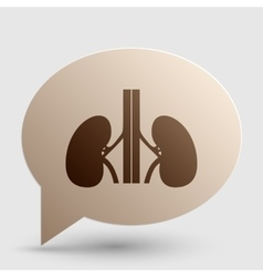 Human kidneys sign brown gradient icon on bubble vector