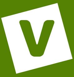 Letter v sign design template element vector
