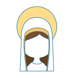 Virgin mary cartoon vector