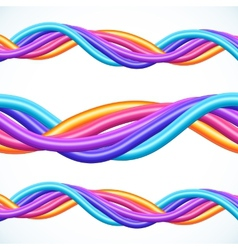 Colorful plastic twisted cables background vector