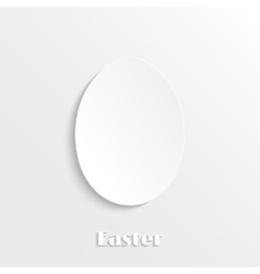 Paper egg icon vector