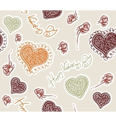 Valentines day pattern vector
