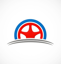Car tyre automotive logo vector
