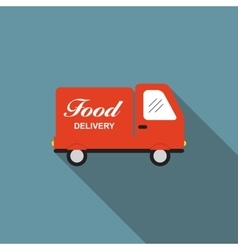Icon with flat graphics element of food delivery vector