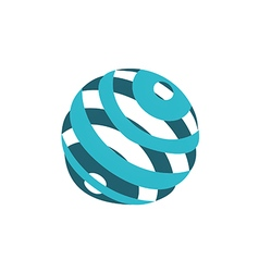 Globe sphere orbit communication logo vector
