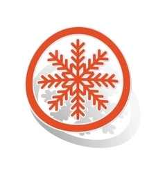 Cold sign sticker orange vector