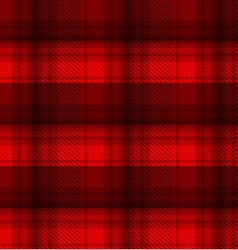 Black and red tartan plaid background vector
