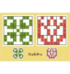 Unique sudoku set vector image