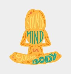 Heathcare sport body and mind vector