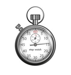 Classic stopwatch vector image vector image
