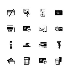 credit cards - flat icons vector image