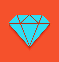 Diamond sign whitish icon on vector