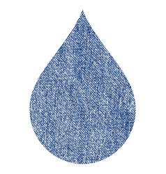 Drop fabric textured icon vector