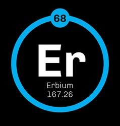 Erbium chemical element vector image vector image
