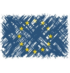 European Union grunge flag vector image vector image