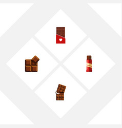 Flat icon chocolate set of wrapper sweet vector