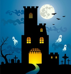 halloween house new vector image vector image