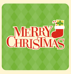 Merry christmas typographic design poster vector