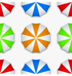 modern colorful seamless umbrella vector image
