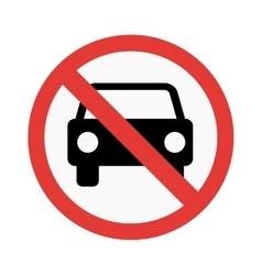No car sign vector image vector image