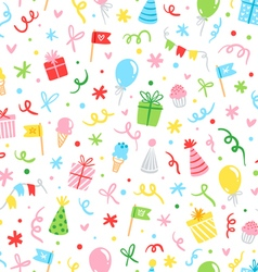 Party fun seamless pattern vector image vector image