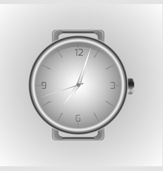 realistic of a wristwatch clock face vector image