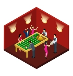 Roulette Isometric vector image vector image