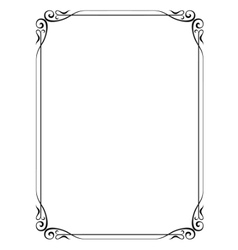Simple ornamental decorative frame vector
