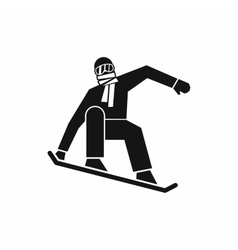 Snowboarder icon simple style vector image vector image