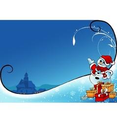 Snowman As Santa Claus vector image