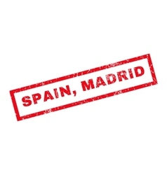 Spain madrid rubber stamp vector