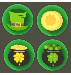 St patrick day four icons vector