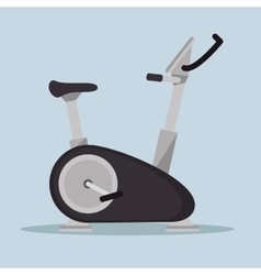 Static bike fitness sport icon vector