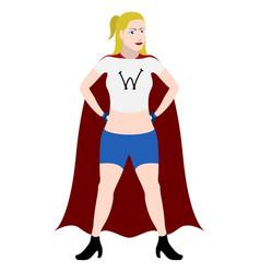 superwoman cartoon character vector image