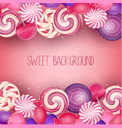 sweets background vector image vector image
