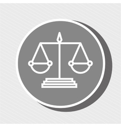 symbol of justice isolated icon design vector image