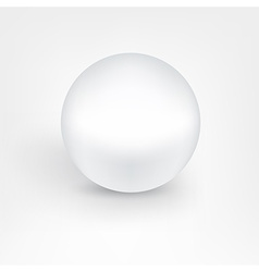 White pearl ball vector image vector image
